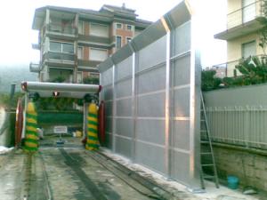 barriera acustica a protezione di abitazione